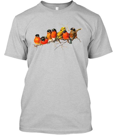 Bird Bird Art 01 Light Steel T-Shirt Front