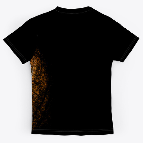 King Tiger Black T-Shirt Back