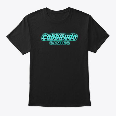 Cabbitude Gaming: Basic Design Black T-Shirt Front