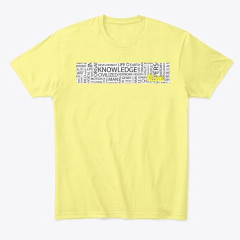 Thoughts Lemon Yellow  T-Shirt Front