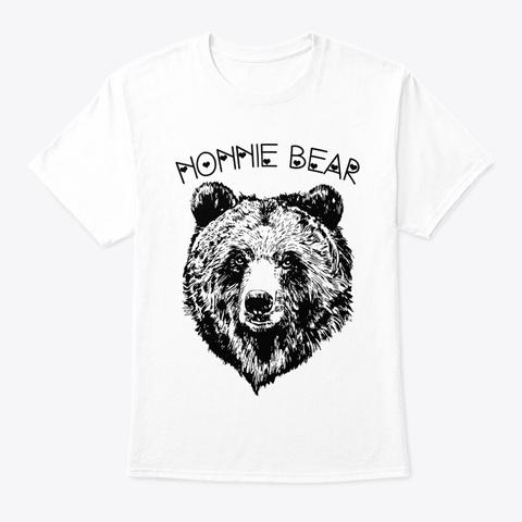 Nonnie Bear Shirt Animal Gift Shirt White T-Shirt Front