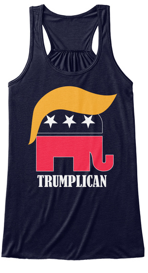 Trumplican Midnight Women's Tank Top Front