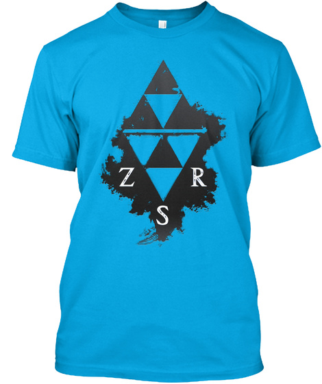 Zsr Relaxed Tee(Men's) Turquoise T-Shirt Front