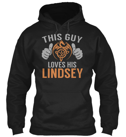 This Guy Loves His Lindsey Black T-Shirt Front
