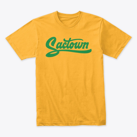Sactown   Stingers Up Green Gold T-Shirt Front
