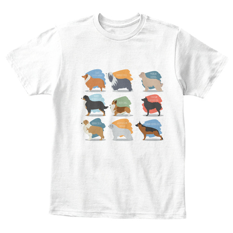 Dogs Children Tee White T-Shirt Front