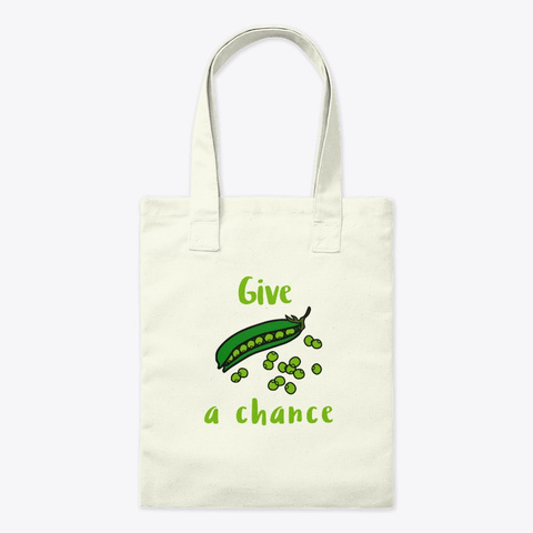 Give Peas A Chance Natural T-Shirt Front
