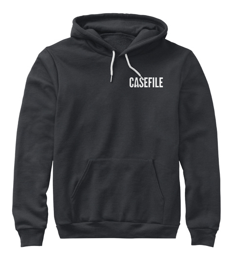 Casefile Dark Heather Grey Sweatshirt Front