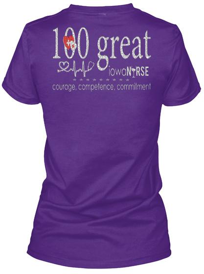 100 Great Iowa Nurse Courage Compelenc LongSleeve Tee