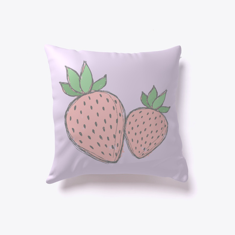 Strawberry Pillow   2 Strawberries Light Purple T-Shirt Front