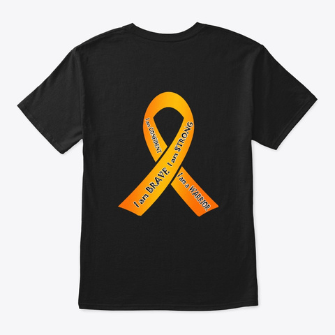 Crps Awareness Black T-Shirt Back