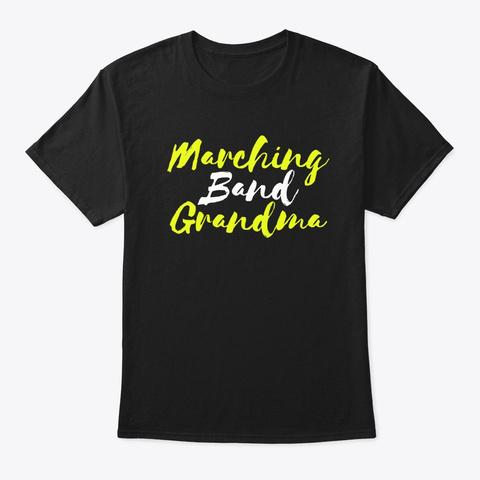 Marching Band Grandma Black T-Shirt Front