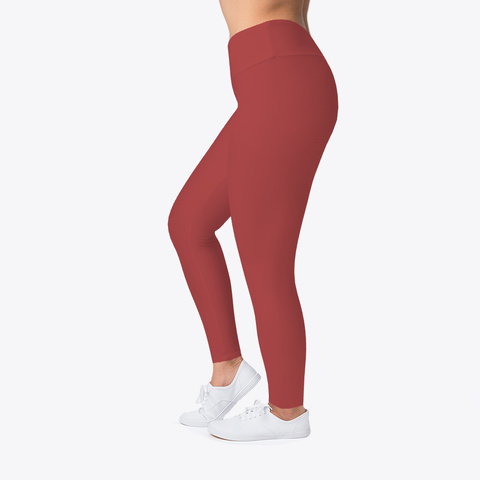 Barzrus (Black Font) Leggings Burgandy T-Shirt Left