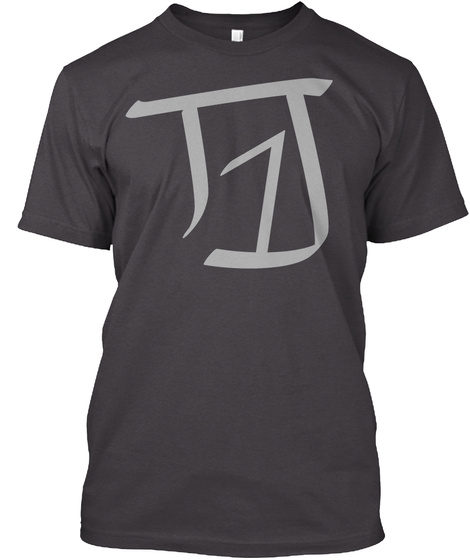 T1 J Heathered Charcoal  T-Shirt Front