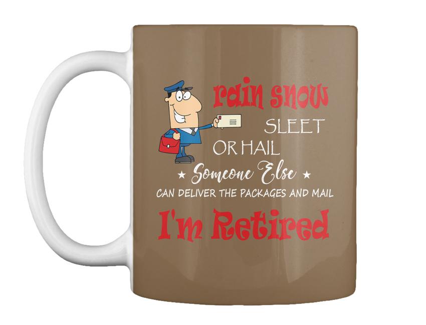 miniature 61 - Funny Retired Postal Worker Mailman Tee - Rain Suck Sleet Or Gift Coffee Mug