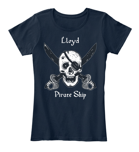 Lloyd's Pirate Ship New Navy T-Shirt Front