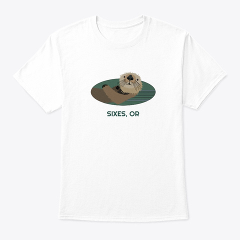 Sixes Or Otter Pnw Tribal White T-Shirt Front