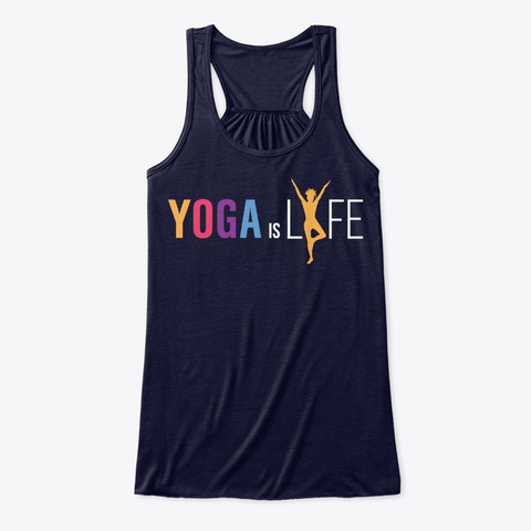 Yoga Is Lyfe   Colorful Tank Top Midnight T-Shirt Front