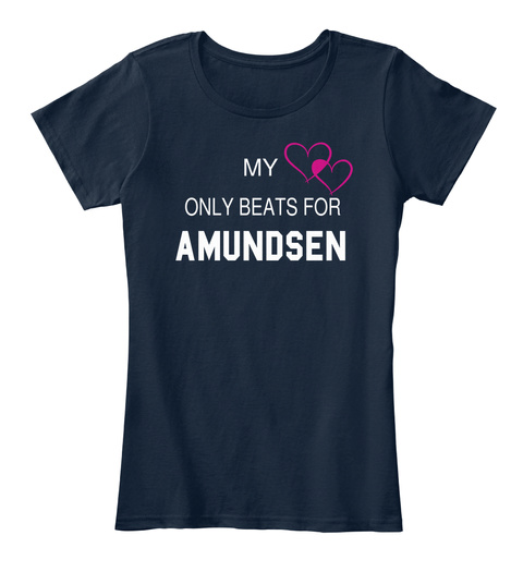 My Only Beats For Amundsen New Navy T-Shirt Front