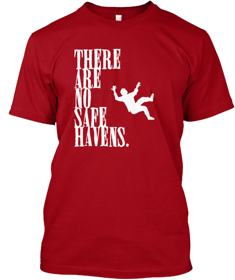 Dead Fall Deep Red T-Shirt Front