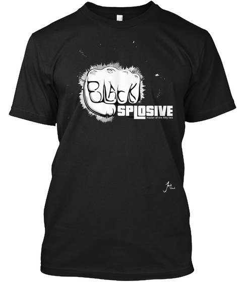 Black Splosive Master Of The Fifty Two Black T-Shirt Front