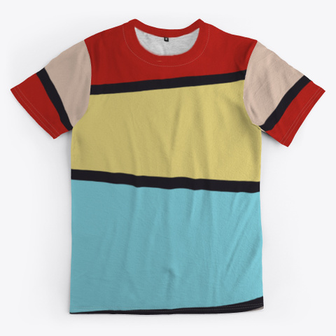 Colorful Abstract Geometric Pattern Standard T-Shirt Front