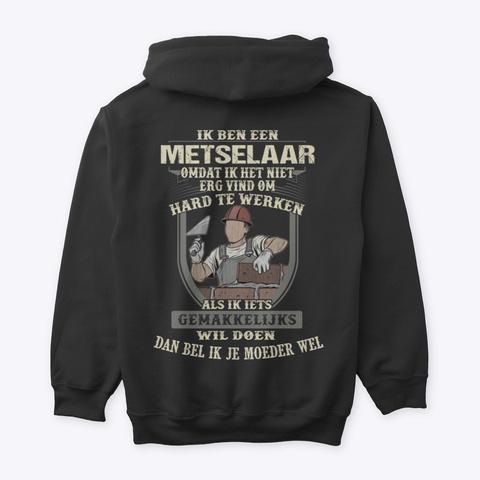 Metselaar Black T-Shirt Back