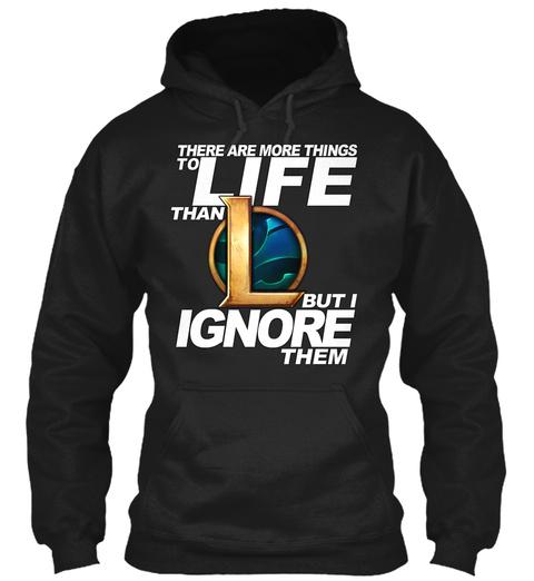 League Of Legends T Shirt Black T-Shirt Front