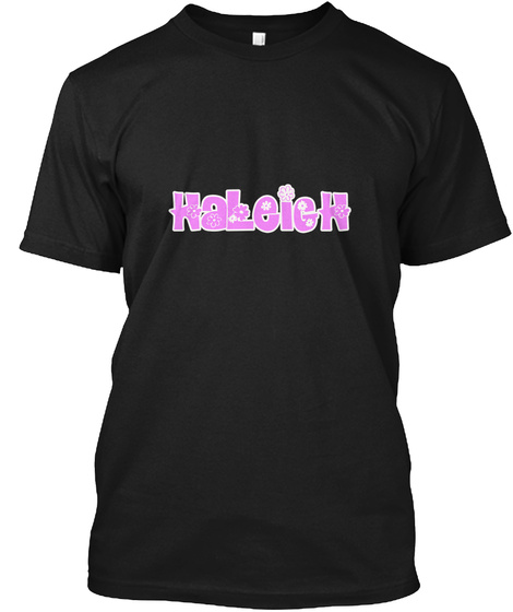 H Aleigh F Lower D Esign Black T-Shirt Front