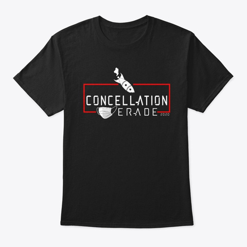 Concellation Masquerade 2020 Black T-Shirt Front