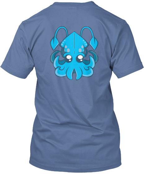 Emily Squid Logo Denim Blue T-Shirt Back