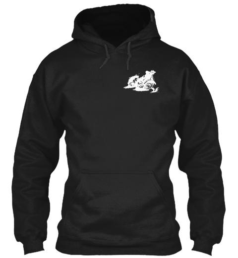 Drop A Leg   Motocross Shirt Black T-Shirt Front