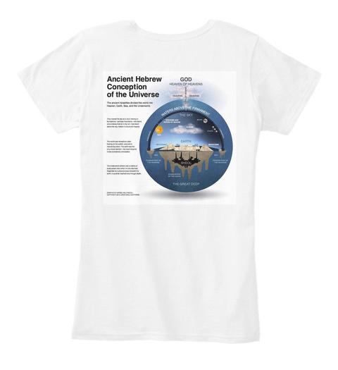 Flat Earth Truth Ndt Ahc Premium Womens White Women's T-Shirt Back