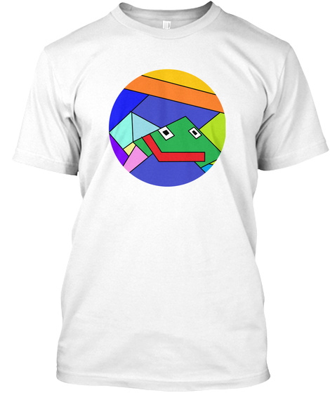 Abstract Frog White T-Shirt Front