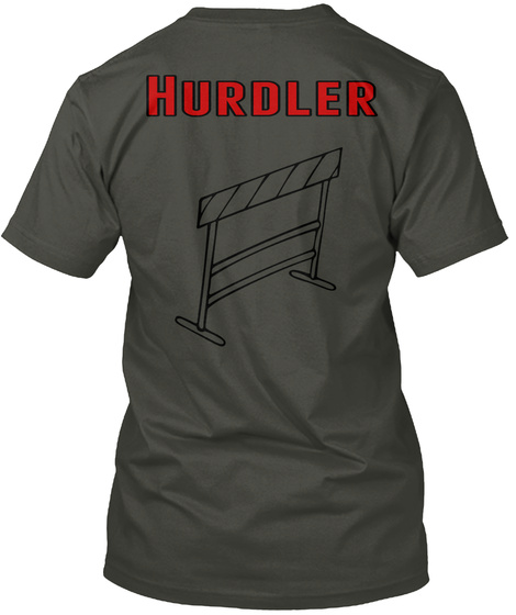 Hurdler Smoke Gray T-Shirt Back