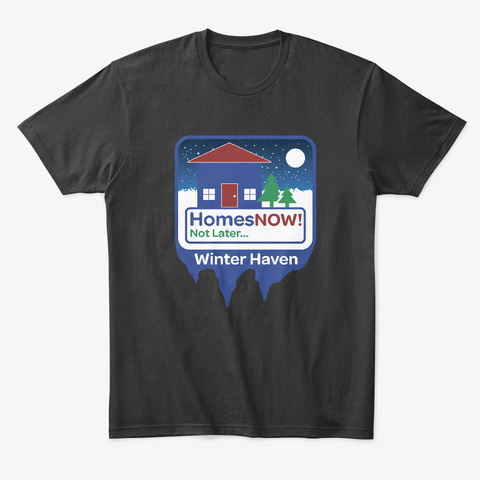 Homes Now   Winter Haven Line Black T-Shirt Front