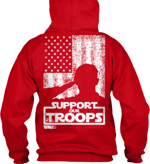 first rate 3e55b 45bab RED friday Support our Troops Hoodie!