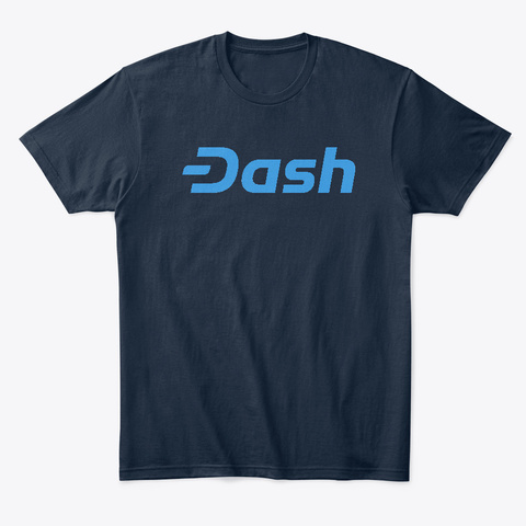 Dash Logo Products By Coin Heaven New Navy T-Shirt Front