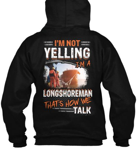Longshoreman Hoodie Christmas Special Black T-Shirt Back