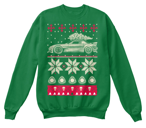 Mazda Ugly Christmas  Kelly Green  T-Shirt Front