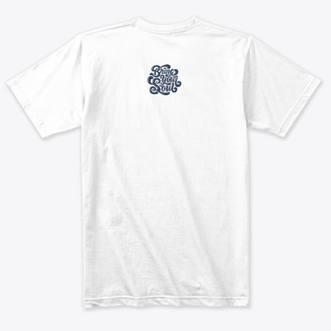 Memphis Tee Heather White T-Shirt Back