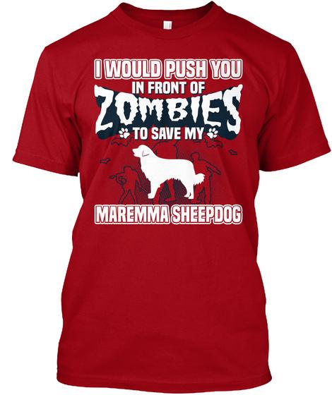 Maremma Sheepdog Deep Red T-Shirt Front
