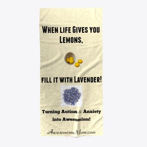 Lemons & Lavender Blanket & Beach Towel Light Yellow T-Shirt Front
