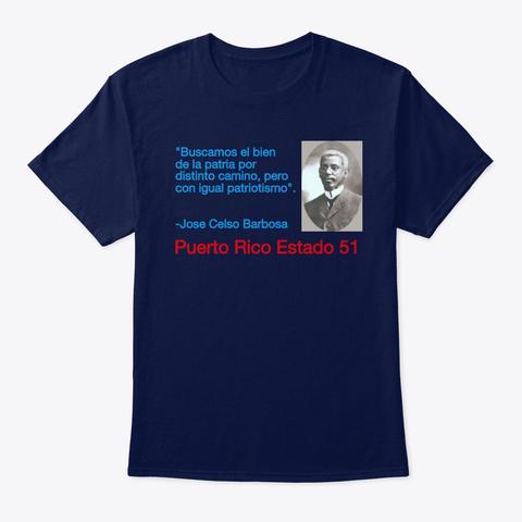 Barbosa Patriotismo Navy T-Shirt Front
