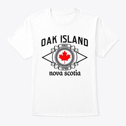 Oak Island Nova Scotia Vintage Canadian  White T-Shirt Front