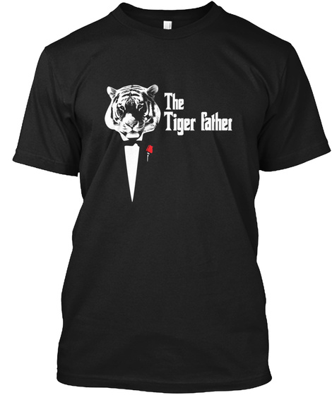The Tiger Father Black T-Shirt Front