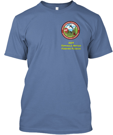 2018 Seminole Nation Forever Florida Denim Blue T-Shirt Front
