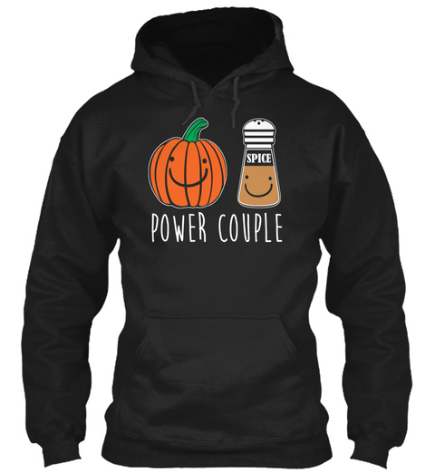 Spice Power Couple Black T-Shirt Front