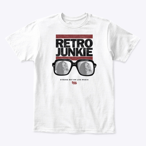 King Of Rock  White T-Shirt Front