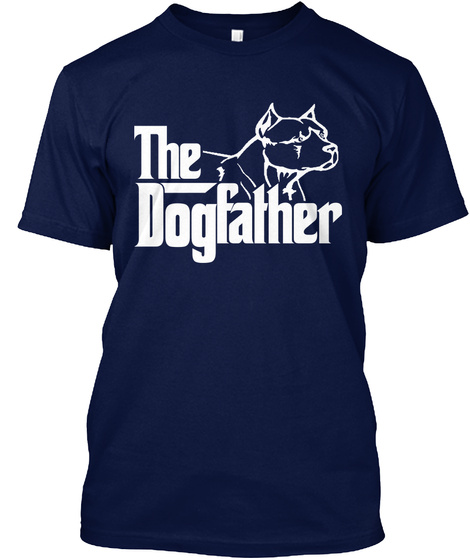The Dogfather Navy T-Shirt Front